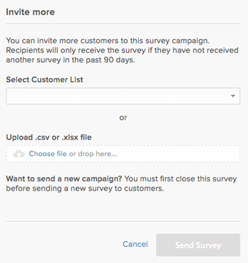 creating and sending a net promoter score survey to measure