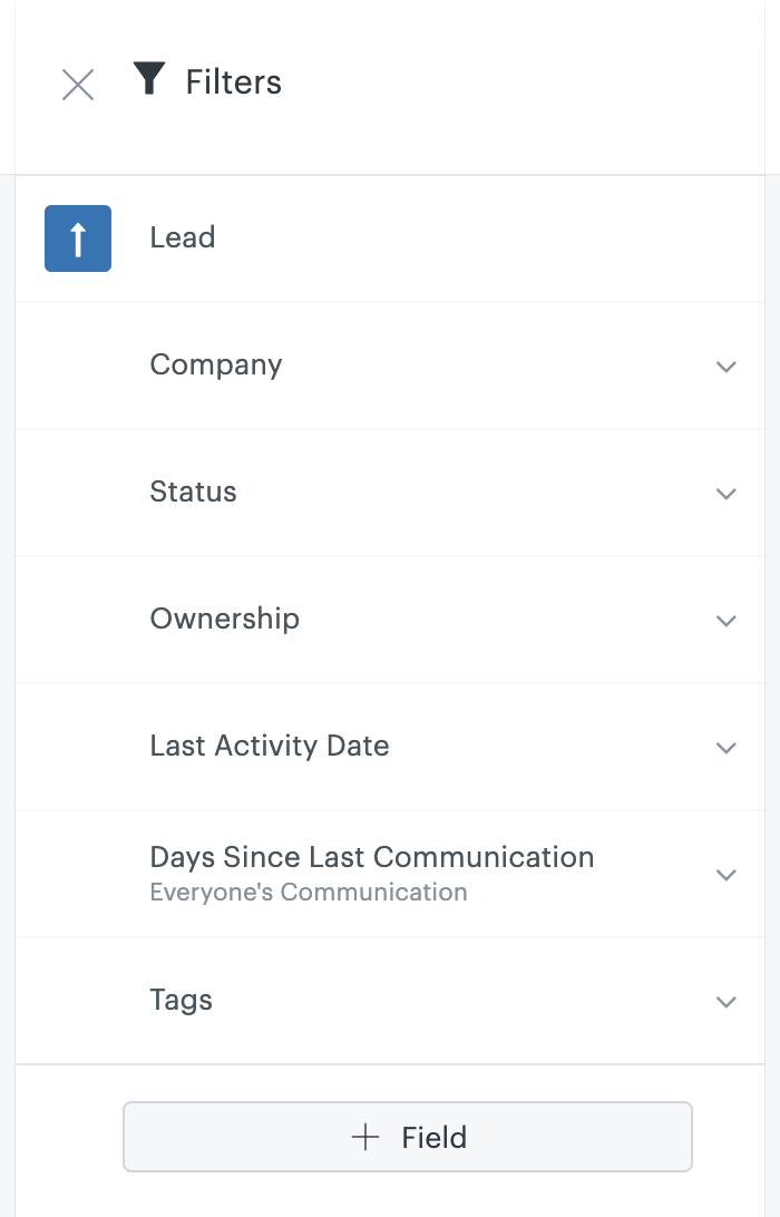 Sell Leads filter
