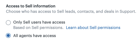 Agent access to Sell data
