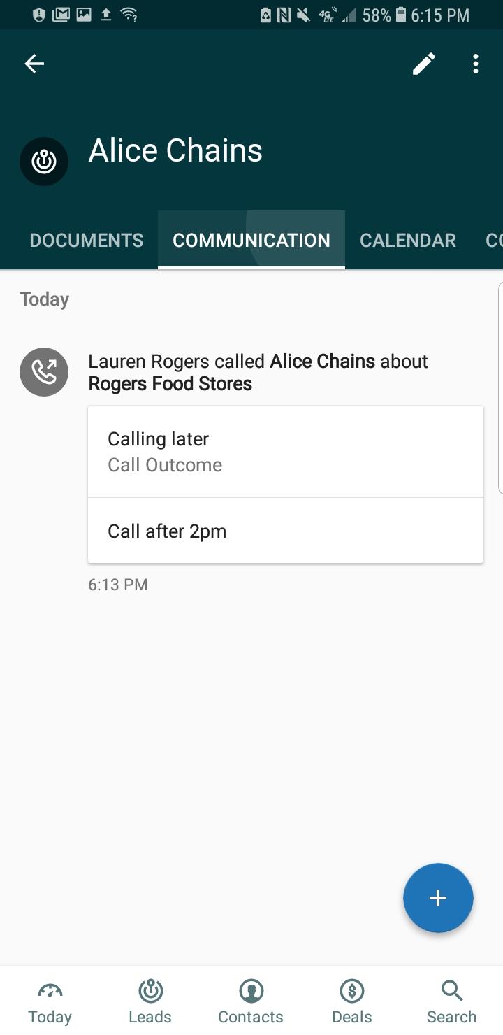 Sell – Anruf protokollieren – Android
