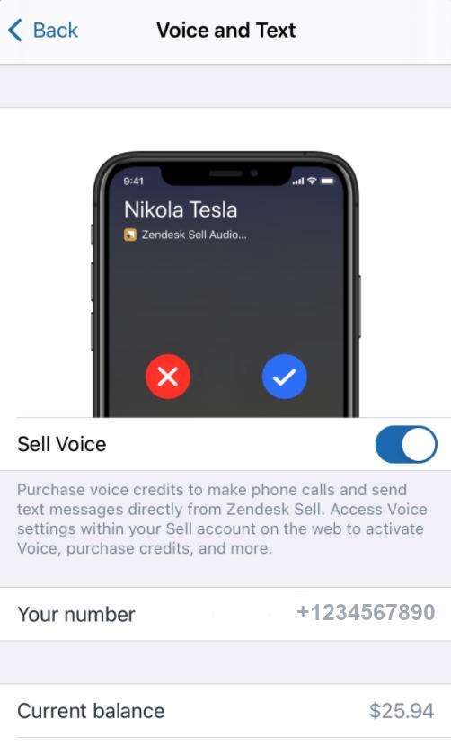 Sell – Voice aktivieren