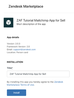 Sell private app installation