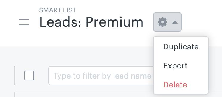 Sell - Dupliquer une liste intelligente
