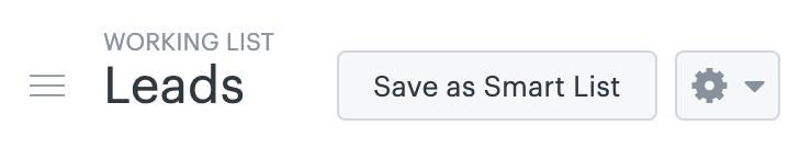 Sell - Enregistrer sous forme de liste intelligente
