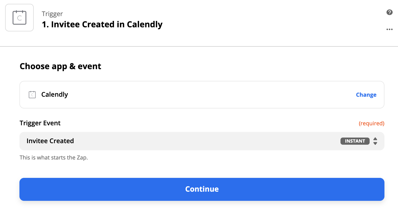 Sell Zapier create trigger with Calendly