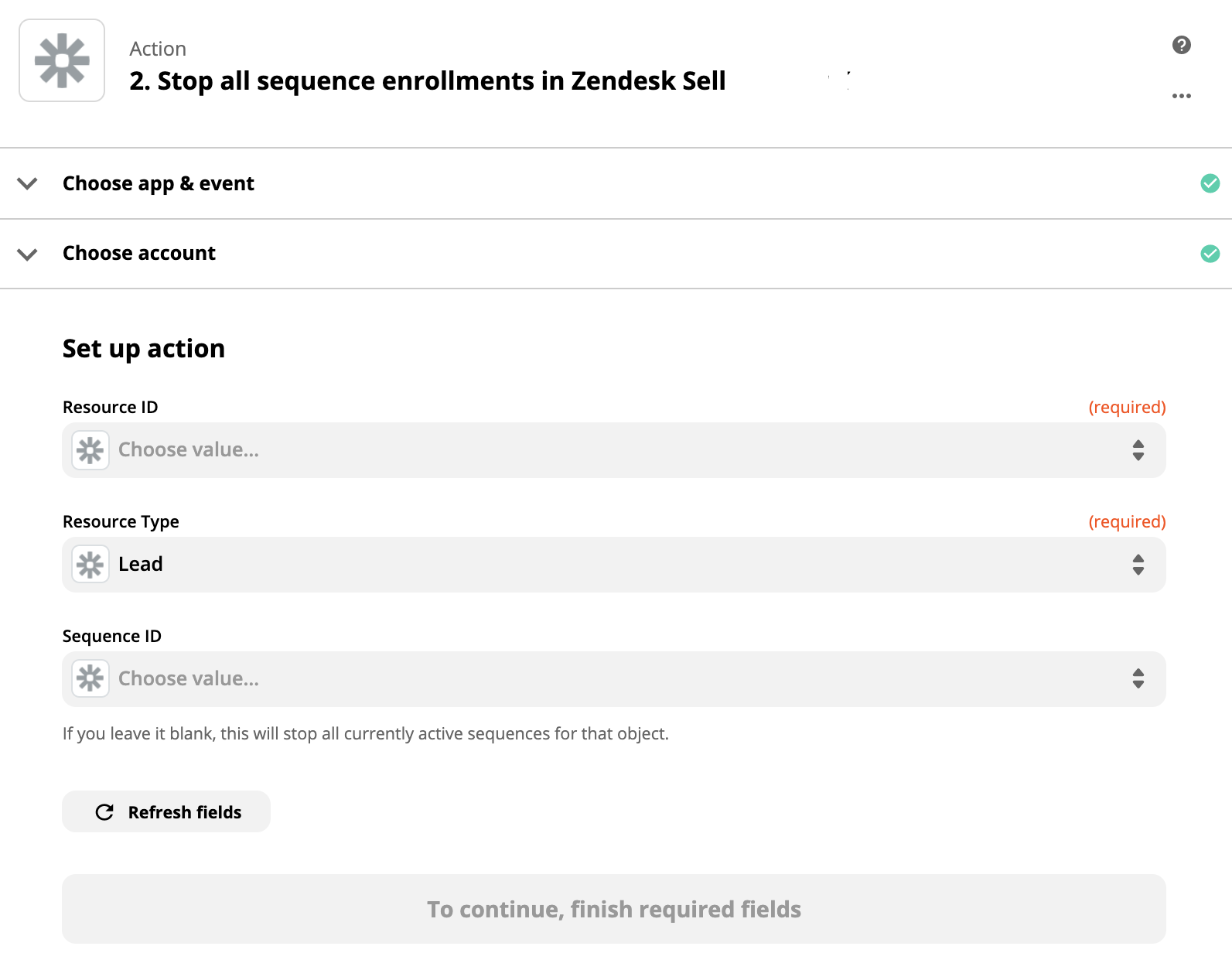 Sell Zapier stop all sequence enrollments