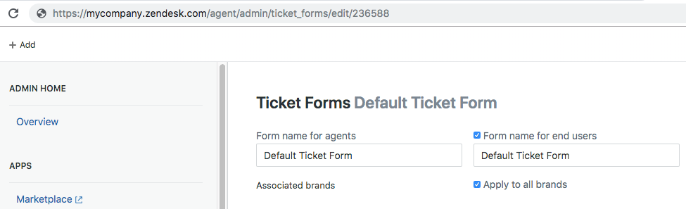 Presenting ticket forms to end users (Professional add-on