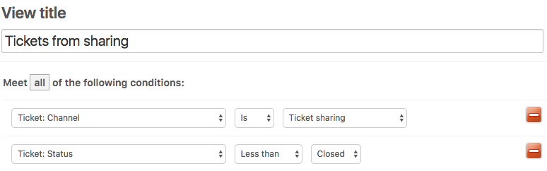 Sharing tickets with other Zendesk Support accounts