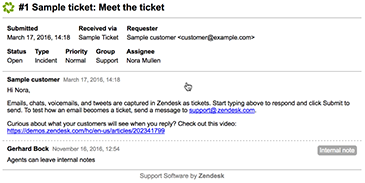 printing tickets zendesk support