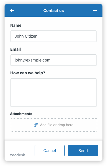 Contact Form Component Example