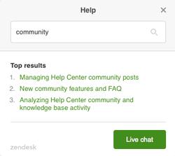 Über Hilfe Live-Chat