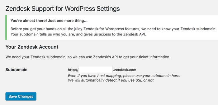 Zendesk Wordpress Ticketing System