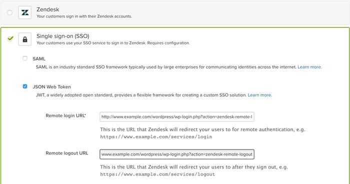Wordpress: Setting up single sign-on (SSO) for WordPress – Zendesk help