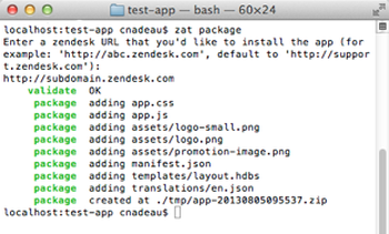 Installing and using the Zendesk apps tools – Zendesk Develop
