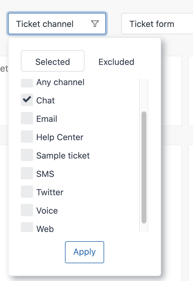 Ticket channels in Explore