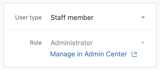 Manage user profile