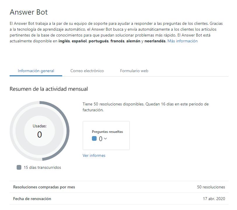 Introducción al Answer Bot (para administradores) – Zendesk Support