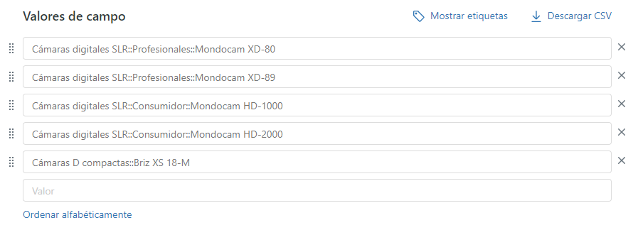 Ejemplo de lista desplegable personalizada