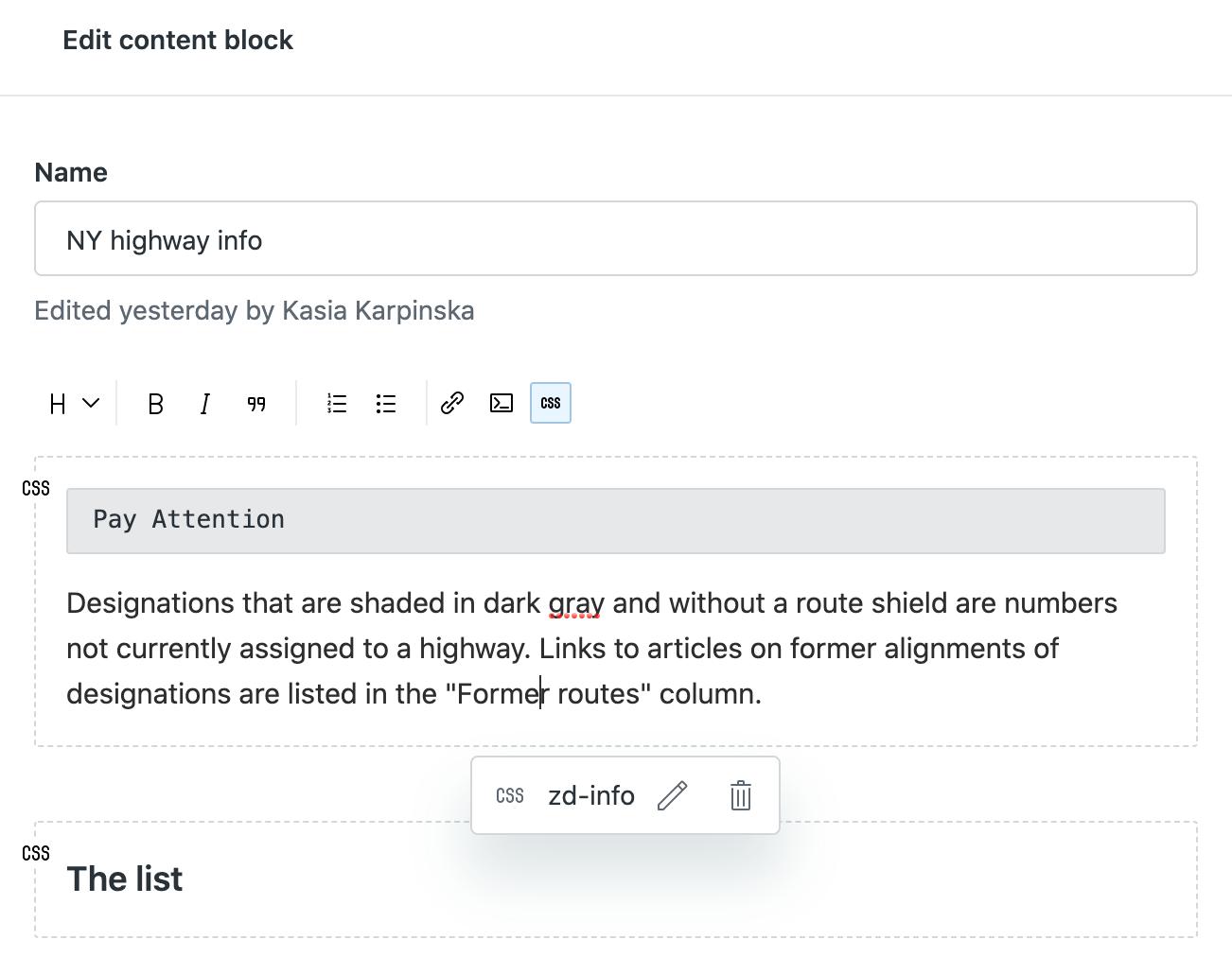 Editar o eliminar CSS en Guide