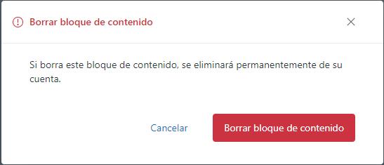 Borrar bloque de contenido en Guide