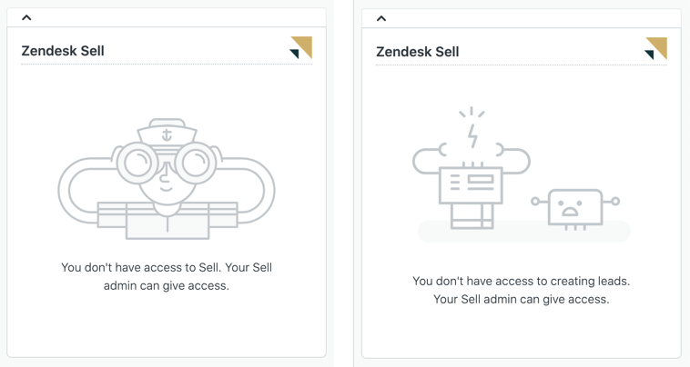 Aplicación Zendesk Sell en Support