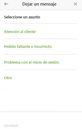 web widget de varios formularios de ticket