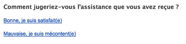E-mail de satisfaction client