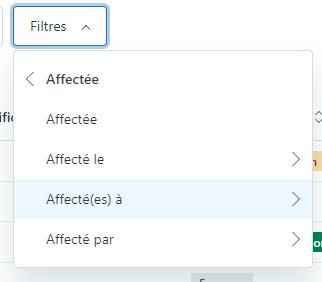 Filtre Guide Articles qui me sont affectés