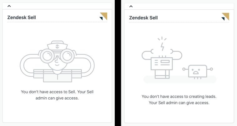 Application Zendesk Sell dans Support