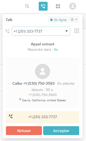 Recevoir et passer des appels avec Zendesk Talk – Zendesk Support 149ae24937d