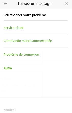Web Widget avec plusieurs formulaires de ticket