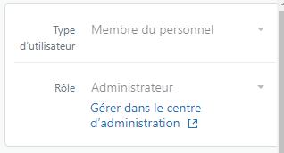 Gérer le profil d'utilisateur