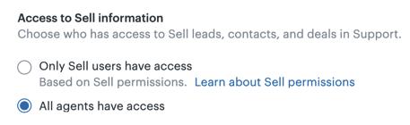 Sellデータへのエージェントのアクセス