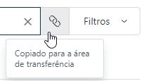 URL de pesquisa copiada para área de transferência