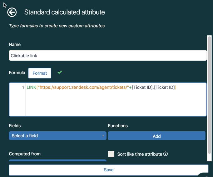 Criação de um atributo calculado padrão.