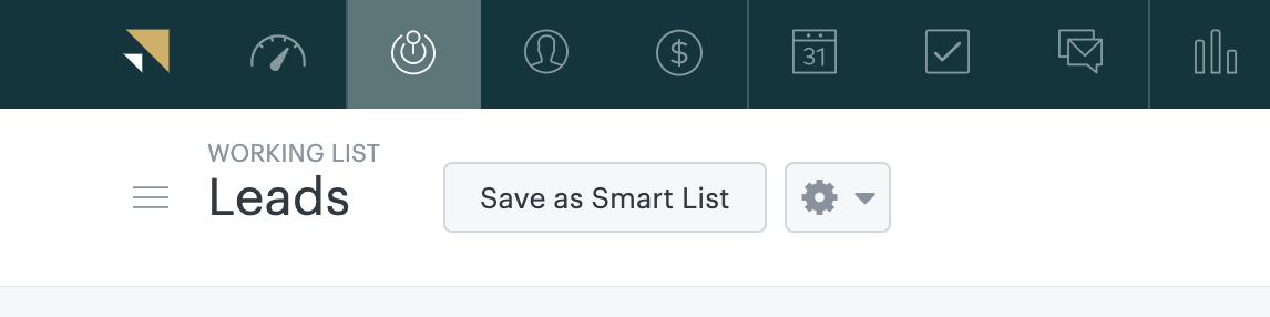 Salvar como lista inteligente do Sell