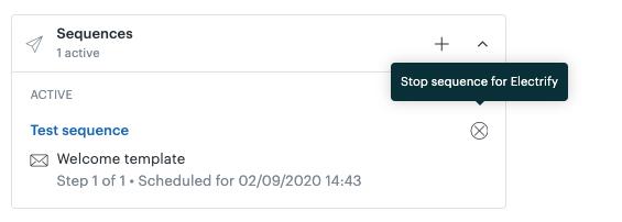 Interrupção de sequência de e-mail no Sell