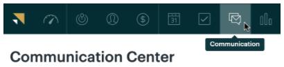 Central de comunicação do e-mail do Sell