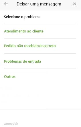 Web widget para diversos formulários de ticket