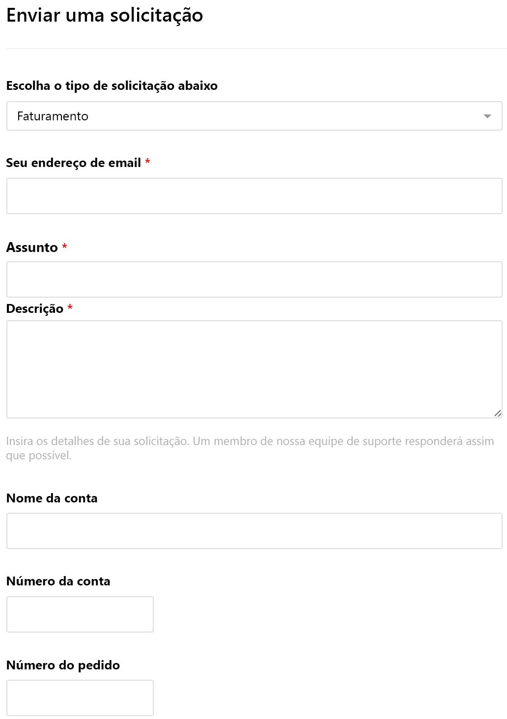Exemplo de formulário personalizado